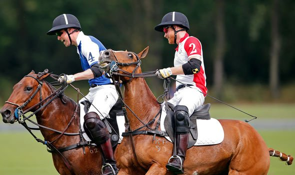 Harry and William playing polo last summer