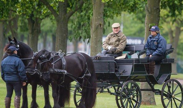 The Duke of Edinburgh attending the Royal Windsor Horse show in 2018