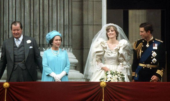 Earl Spencer with the Queen, Diana and Charles