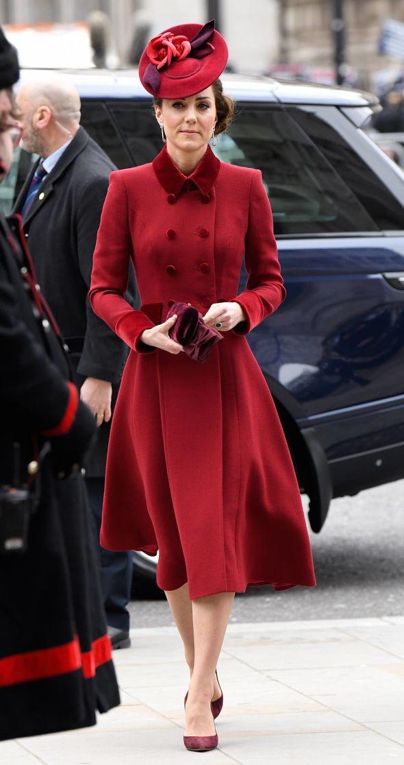Kate Middleton red coat: Secret message Kate sent Meghan ...