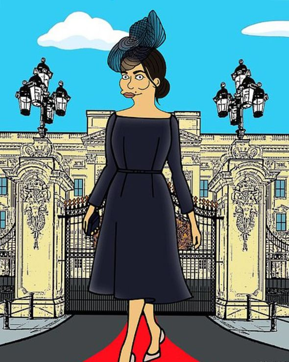 Meghan has already been immortalised as a Simpson by Alexsandro Palombo
