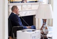 Prince William in his office in Kensington Palace