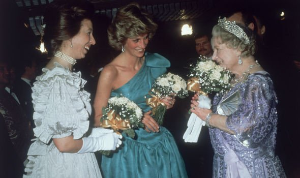 Princess Anne and Diana