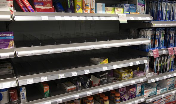 Supermarkets across the UK have been left empty after Britons fear a full-scale lockdown