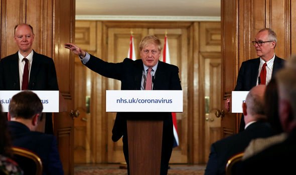 The message came shortly after Boris Johnson gave his daily briefing on the virus