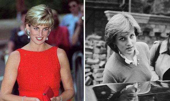 Princess Diana pictured before her wedding (R) and in 1997 (L)