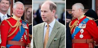 Prince Charles; Prince Edward; Prince Andrew