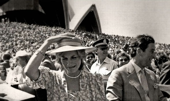 Diana pictured by Lennox on the 1983 tour of Australia and New Zealand