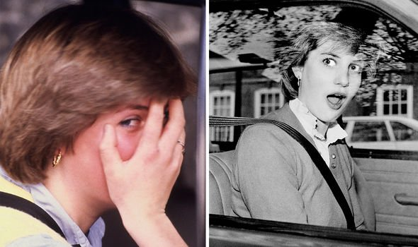 Diana took some time to adjust to life in the public eye -- pictured after she stalled her car in front of photographers in 1980