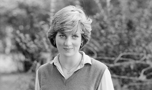 Edwards traced Diana down to the nursery where she worked in London (pictured, wearing her 'D' necklace')