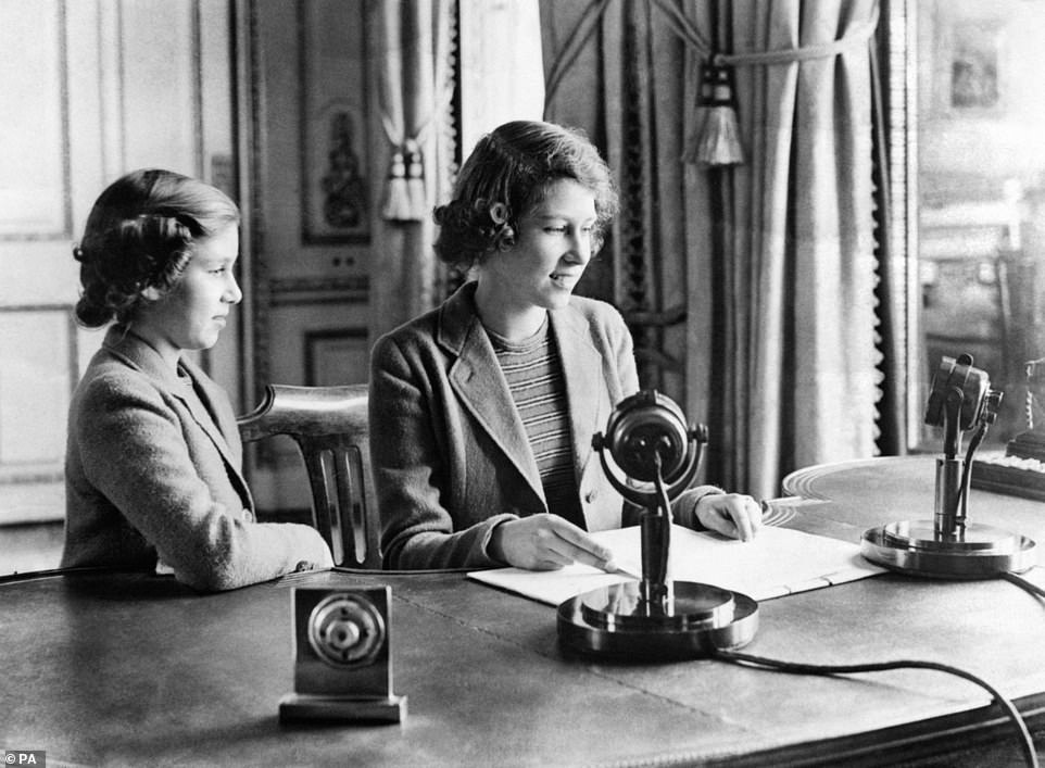 She referenced her first ever public broadcast with her sister, Princess Margaret, in 1940, as she conjured up the image of young children being sent away as evacuees by their distraught parents