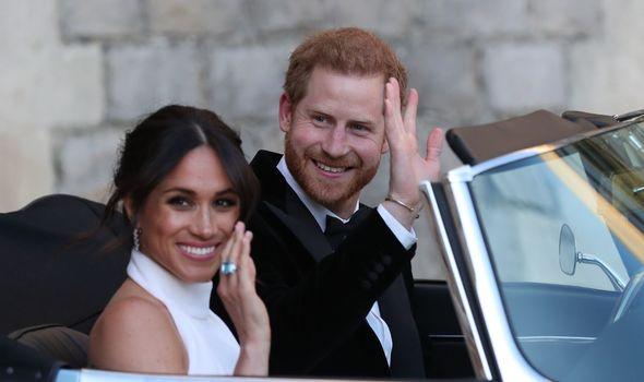Prince Harry news: Meghan Markle and Prince Harry on their wedding day