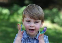 prince louis birthday kate middleton photos kensington palace twitter royal news