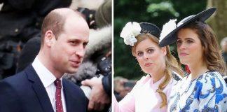 Prince William, Princess Eugenie and Princess Beatrice