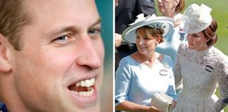 Prince William; Kate and Carole Middleton