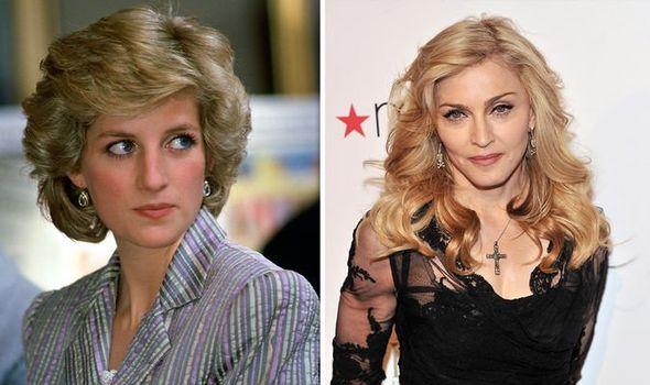 Princess Diana and popstar Madonna