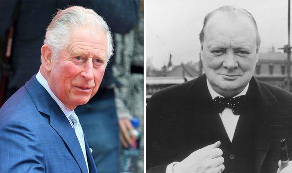 Prince Charles and Sir Winston Churchill