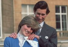 Prince Charles and Princess Diana during their engagement photocall