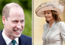 Prince William and Carole Middleton