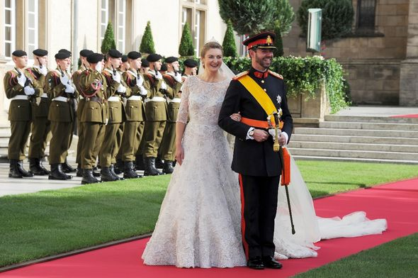 Prince Guillaume and Princess Stephanie wed in 2012