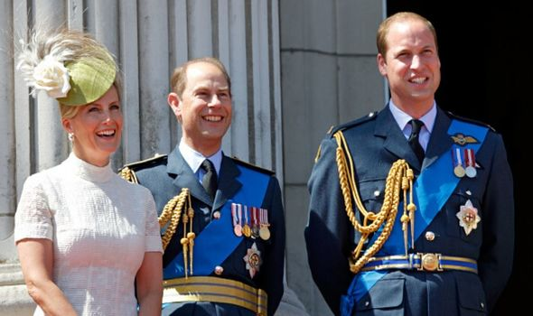 Prince William with Prince Edward and Sophie