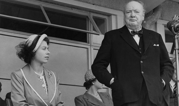 The Queen and Churchill were close throughout his premiership