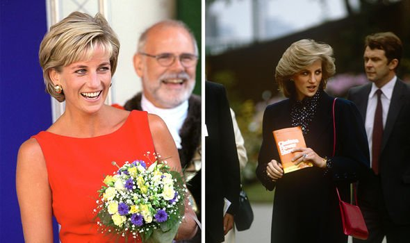 Diana professed to not being a fantastic gardener and wore heels when attending the event once