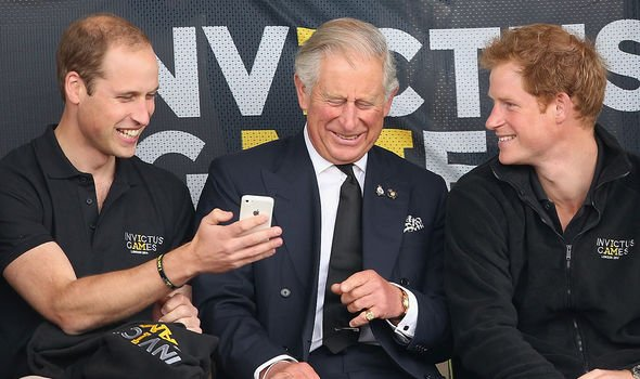 William, Charles and Harry at the Duke of Sussex's Invictus Games
