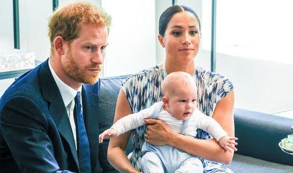 Meghan and Harry and baby Archie