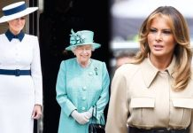 Melania Trump: Donald Trump style outfit Queen