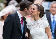 Pippa Middleton: The photo shows Pippa and Jack Matthews sharing a kiss after the ceremony