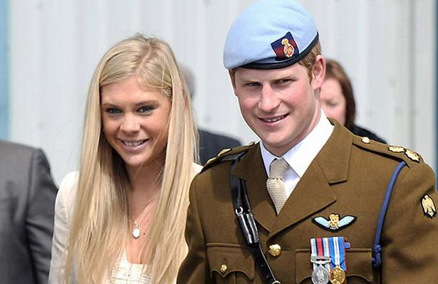 Prince Harry and Chelsy Davy Image Rex