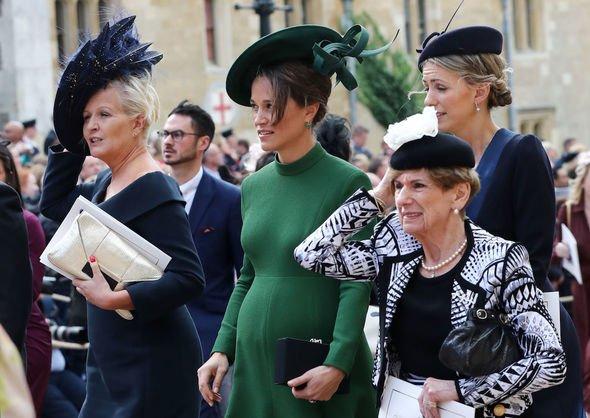 Princess Eugenie latest: Pippa at Eugenie's wedding in 2018