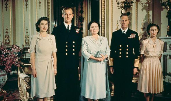 Royal family in 1940s
