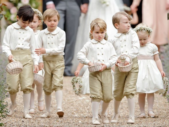 Royal children: Prince George and others at Pippa's wedding in 2017