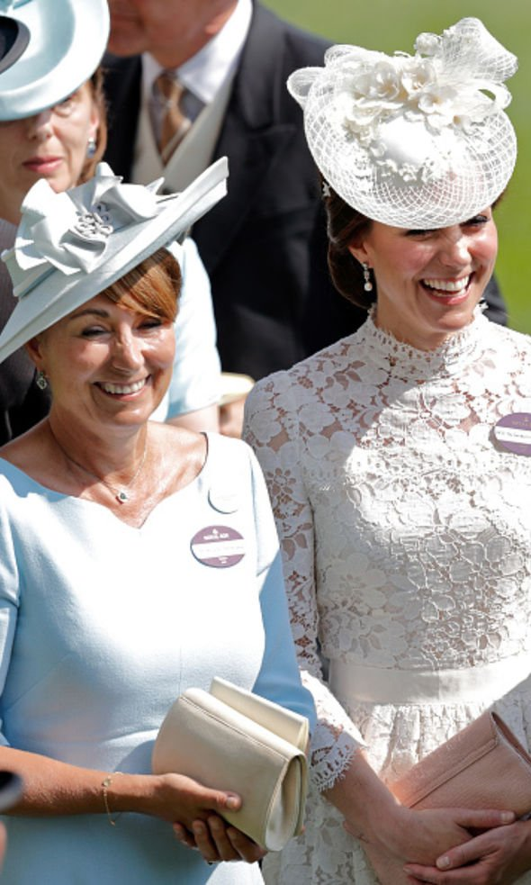 Kate with her mother Carole Middleton