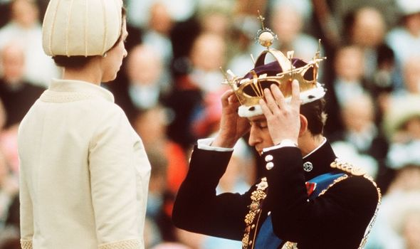 Prince Charles title: Queen Elizabeth and Prince Charles