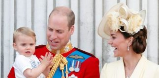 Prince Louis, Prince William and Kate Middleton