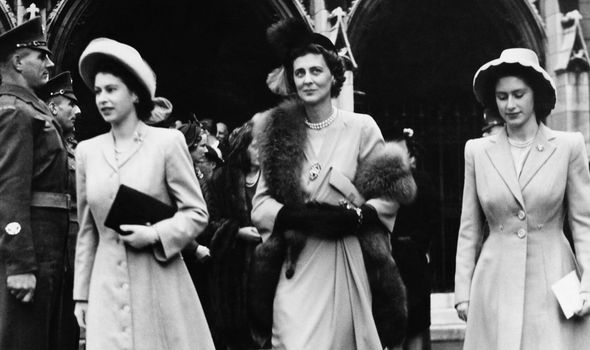 Royal titles: Queen Elizabeth, Princess Marina and Princess Margaret