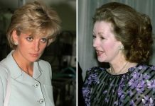 Princess Diana and Raine Spencer