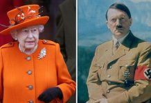 Queen Elizabeth II and Adolf Hitler