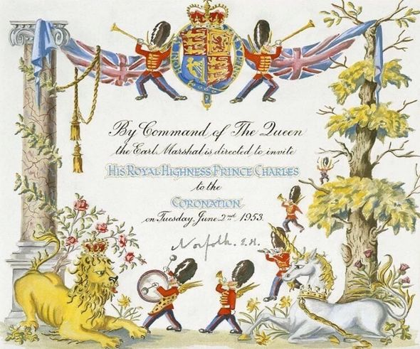Prince Charles got a special hand-painted invitation