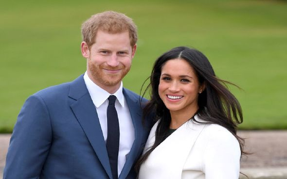 Prince Harry and Meghan Markle smile together
