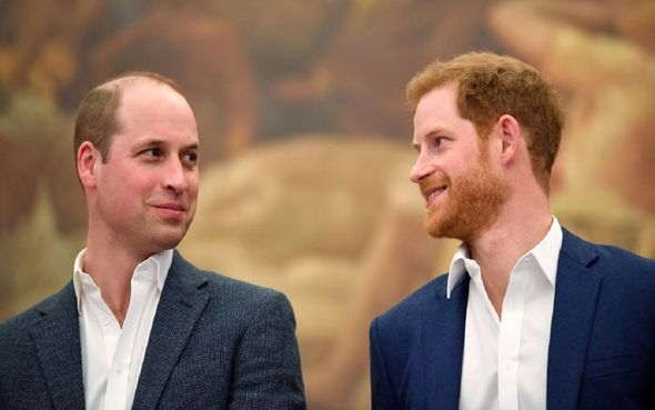 Prince Harry and Prince William talking