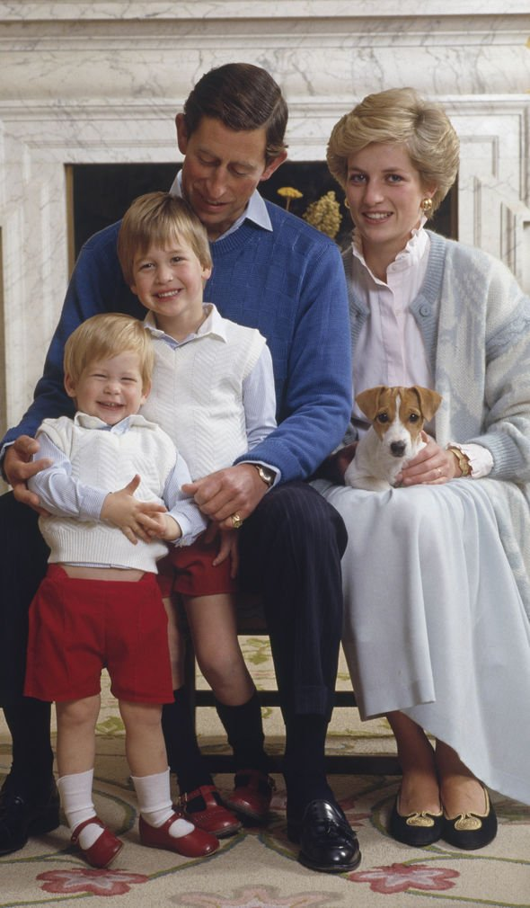 Charles, Diana, William and Harry