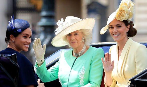 Kate, Camilla and Meghan