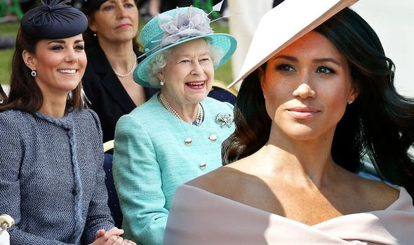 Kate, the Queen and Meghan Markle