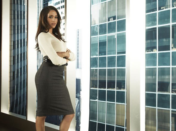 Meghan Markle on the set of Suits