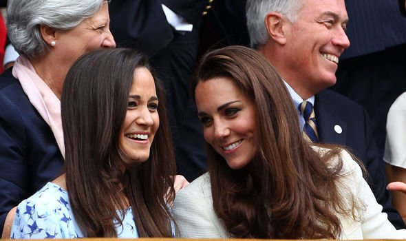 Pippa Middleton: Pippa with sister Kate at Wimbledon