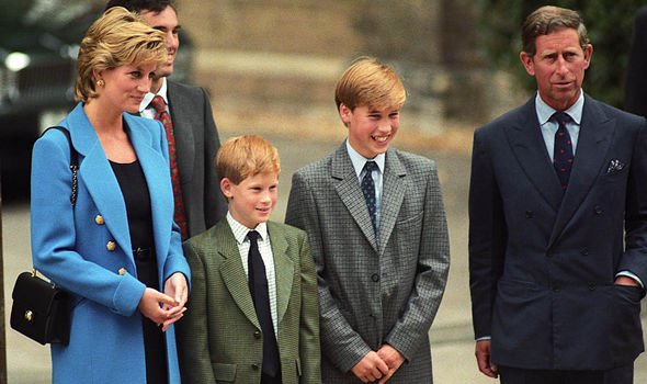 Prince Charles Princess Diana, William, and Harry